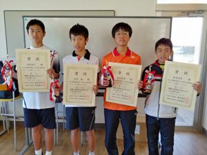 第38回福島県春季選抜ジュニアシングルス選手権大会U14男子シングルス入賞者