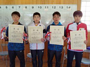 第38回福島県春季選抜ジュニアシングルス選手権大会U16男子シングルス入賞者
