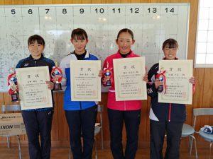第38回福島県春季選抜ジュニアシングルス選手権大会U18女子シングルス入賞者