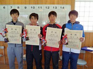 第38回福島県春季選抜ジュニアシングルス選手権大会U18男子シングルス入賞者