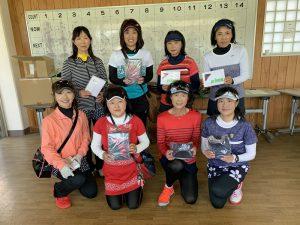 Princeレディーステニストーナメント2019Aクラス入賞者
