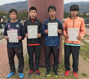 第36回福島県春季ジュニアシングルステニス選手権大会U16の部男子入賞者
