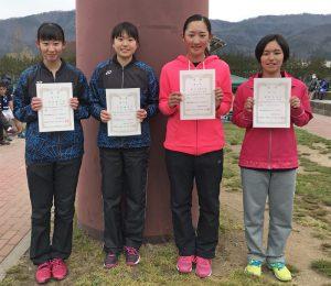 第36回福島県春季ジュニアシングルステニス選手権大会U18の部女子入賞者
