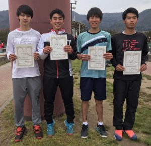 第36回福島県春季ジュニアシングルステニス選手権大会男子U18の部入賞者