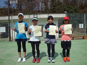 第33回福島県春季小学生テニス選手権大会女子シングルス入賞者