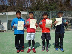 第33回福島県春季小学生テニス選手権大会男子シングルス入賞者