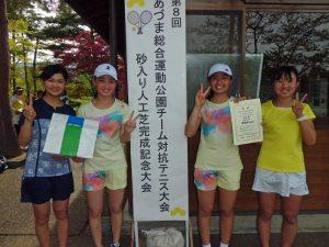 第8回あづま総合運動公園チーム対抗テニス大会女子の部優勝