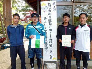 第8回あづま総合運動公園チーム対抗テニス大会男子の部優勝