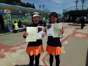 第46回福島県テニス選手権大会40歳以上女子ダブルス優勝