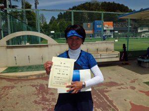 第46回福島県テニス選手権大会40歳以上女子シングルス優勝