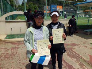 第46回福島県テニス選手権大会50歳以上女子ダブルス優勝