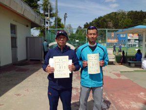 第46回福島県テニス選手権大会45歳以上男子ダブルス優勝