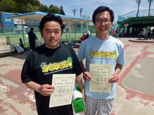 第46回福島県テニス選手権大会55歳以上男子ダブルス優勝