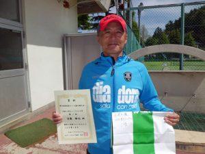 第46回福島県テニス選手権大会55歳以上男子シングルス優勝