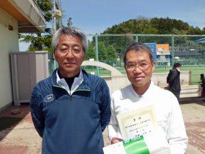 第46回福島県テニス選手権大会60歳以上男子ダブルス優勝