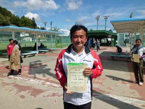 第46回福島県テニス選手権大会60歳以上男子シングルス優勝