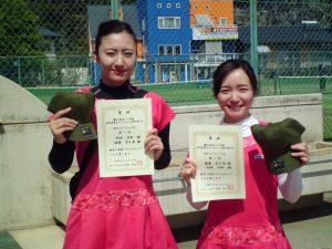 第61回オノヤ杯兼福島県春季ダブルステニス選手権大会一般女子ダブルス優勝