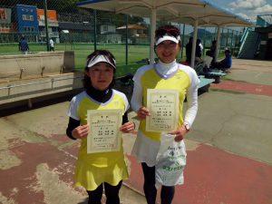 第61回オノヤ杯兼福島県春季ダブルステニス選手権大会40歳以上女子ダブルス優勝