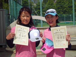 第61回オノヤ杯兼福島県春季ダブルステニス選手権大会45歳以上女子ダブルス優勝