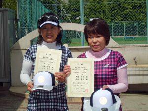 第61回オノヤ杯兼福島県春季ダブルステニス選手権大会55歳以上女子ダブルス優勝