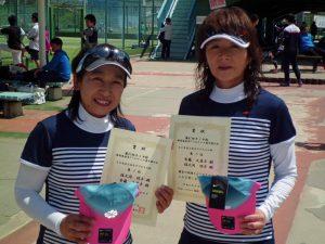第61回オノヤ杯兼福島県春季ダブルステニス選手権大会60歳以上女子ダブルス優勝