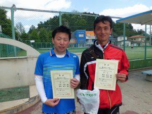 第61回オノヤ杯兼福島県春季ダブルステニス選手権大会35歳以上男子ダブルス優勝