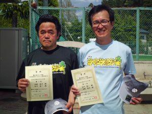 第61回オノヤ杯兼福島県春季ダブルステニス選手権大会55歳以上男子ダブルス優勝