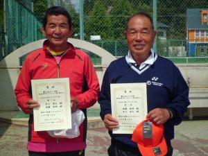 第61回オノヤ杯兼福島県春季ダブルステニス選手権大会60歳以上男子ダブルス優勝