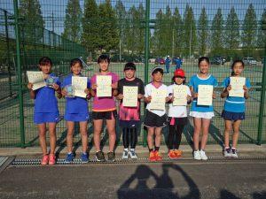 第36回福島県春季ジュニアテニス選手権大会U12女子ダブルス入賞者