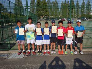 第36回福島県春季ジュニアテニス選手権大会U12男子ダブルス入賞者