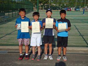 第36回福島県春季ジュニアテニス選手権大会U12男子シングルス入賞者