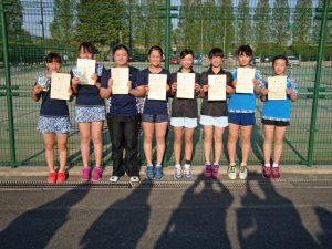 第36回福島県春季ジュニアテニス選手権大会U14女子ダブルス入賞者
