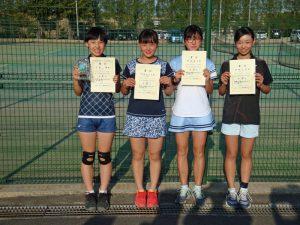 第36回福島県春季ジュニアテニス選手権大会U14女子シングルス入賞者