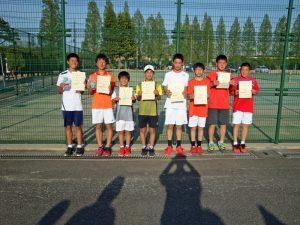 第36回福島県春季ジュニアテニス選手権大会U14男子ダブルス入賞者