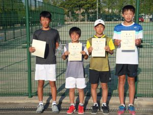 第36回福島県春季ジュニアテニス選手権大会U14男子シングルス入賞者