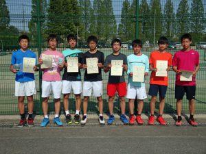 第36回福島県春季ジュニアテニス選手権大会U16男子ダブルス入賞者