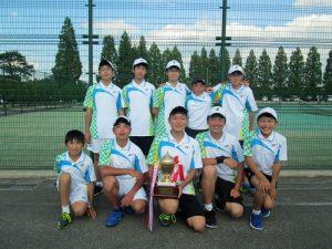 第33回福島県春季中学生テニス選手権大会団体の部優勝