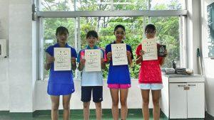日植杯19RSK全国選抜ジュニアテニス選手権福島県予選女子入賞者