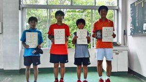 日植杯19RSK全国選抜ジュニアテニス選手権福島県予選男子入賞者