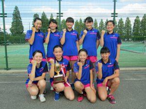 第33回福島県春季中学生テニス選手権大会団体の部女子優勝