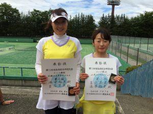 第72回福島県総合体育大会テニス競技40歳以上女子ダブルス優勝