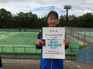 第72回福島県総合体育大会テニス競技40歳以上女子シングルス優勝