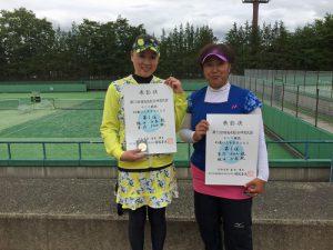 第72回福島県総合体育大会テニス競技45歳以上女子ダブルス優勝
