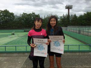 第72回福島県総合体育大会テニス競技50歳以上女子ダブルス優勝