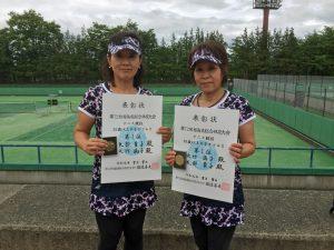 第72回福島県総合体育大会テニス競技55歳以上女子ダブルス優勝