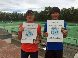 第72回福島県総合体育大会テニス競技35歳以上男子ダブルス優勝
