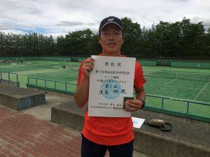 第72回福島県総合体育大会テニス競技35歳以上男子シングルス優勝