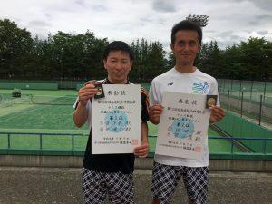 第72回福島県総合体育大会テニス競技40歳以上男子ダブルス優勝
