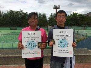 第72回福島県総合体育大会テニス競技50歳以上男子ダブルス優勝