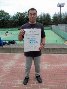 第72回福島県総合体育大会テニス競技60歳以上男子シングルス優勝